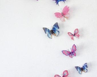 10 x 3D Butterfly Wall Decals, Wall Art, Butterfly Wall Decor, Wedding Cake Toppers, Nursery, Birthdays, Christening, Scrapbooking