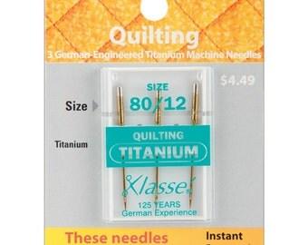 Klasse Machine NEEDLES - Titanium Quilting 80/12 - 3 Count