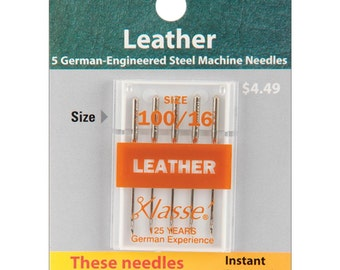 Klasse Machine NEEDLES - Leather 100 / 16 - 5 Count