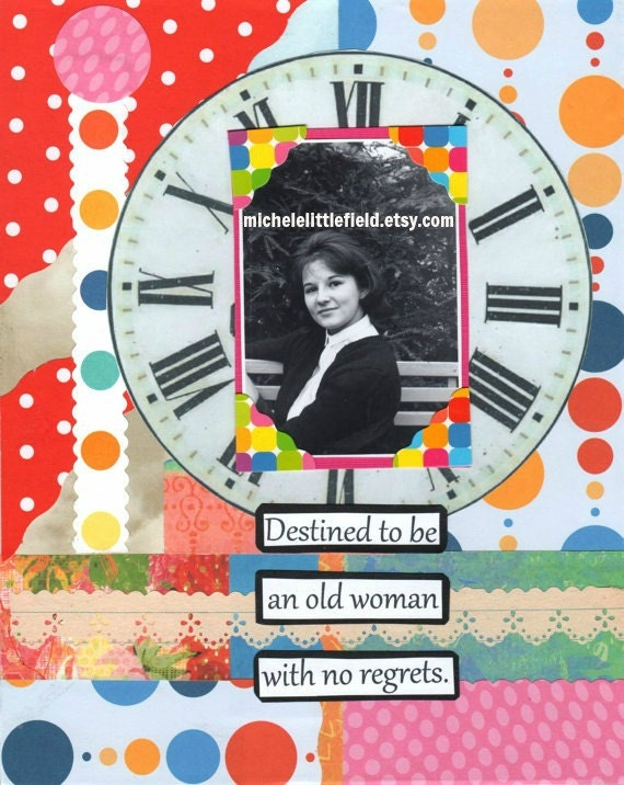 Destined To Be A Woman With No Regrets Friendship Greeting Card