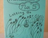 "Zine ""Minutiae No. 5: Letting Go"" // perzine / personal zine / illustration zine / art zine / richmond va / artist / anxiety / balance /"