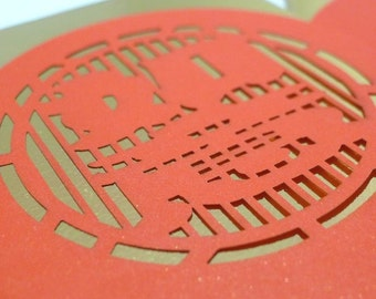 Blissful and Wishful - exquisite die-cut design red packet cash envelope (2 pcs)