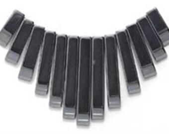 13 Piece Hematite Mini Collar, Egyptian Fan, Tab Set, Bib (1)