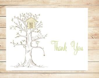 Sweet Thank You Cards - Treehouse, Birdhouse Stationery