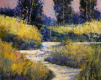 FREE SHIPPING Bobbi Doyle-Maher Southern Landscape Original Oil Painting tonalism painting