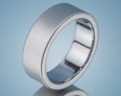 Men's Wedding Band Comfort Fit Stainless Steel Brushed Finish