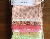Fabric Destash no. 038 -- 10 Fat-Eighths -- Pastels