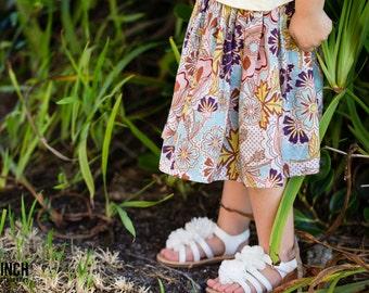size 6-12mo to 10yrs - GARDEN REBIRTH - Boutique Twirl Skirt