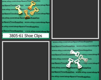 """Shoe Clips - 1"""" x 1/2"""" - gold or silver - 4 pcs"""