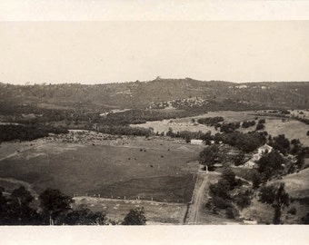 vintage photo 1912 Anderson Farm Ridge Montana View from up on Mountain