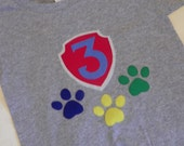 Paw Print Birthday Shirt