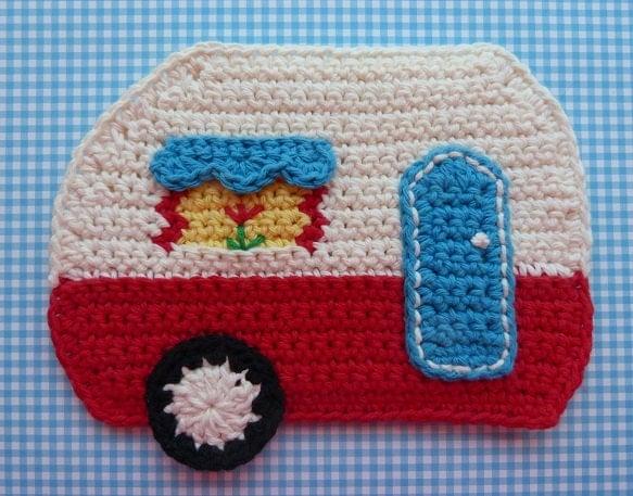 Crochet Pattern Central Potholders : Camper Potholder CROCHET PATTERN INSTANT Download