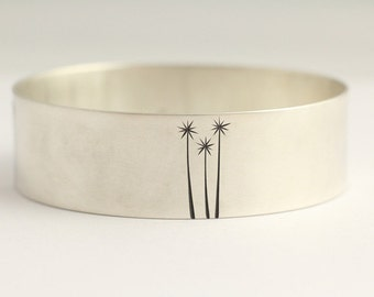 Bracelet with Cabbage Trees in Sterling Silver