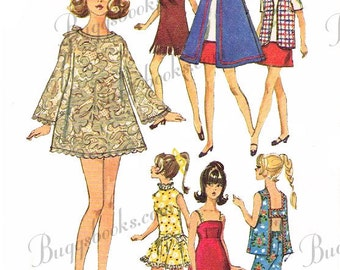 Vintage Simplicity 8466, PDF Doll sewing pattern - 11 1/2 inch doll such as barbie