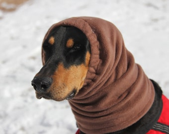 SNOOD for Large Dog - Polar fleece snood - Chocolate Brown - Neutral - Dog Snood - Snood