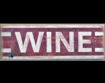 Hot Shot Palletworks, 'WINE', Hand Painted, Vintage-looking, Pallet Sign