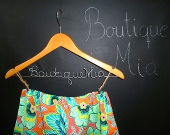 Ready to MAIL -  A-line Skirt - Orange Flowers - Amy Butler  - Will fit Size S / M - by Boutique Mia