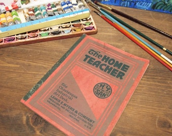 Free Shipping Vintage Book booklet The Home Teacher Art 1913 Home School Ephemera Lewis Myers & Co.