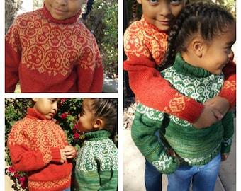 Sisters / Søstre Childrens sweater PATTERN