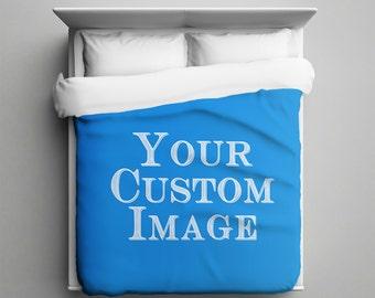 Custom duvet cover, Custom Bed Cover, Custom Image, Custom Photograph, Custom Bedding, Full, Twin, Queen, King, Full Color, Printed in USA