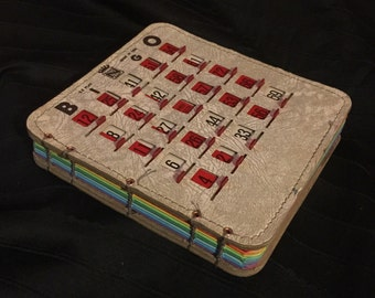 Vintage Bingo King EZ-PLAY Bingo Book (Small Taupe/colored Paper) (2)