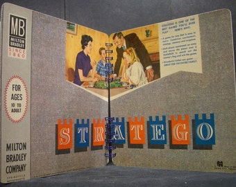 1962 Stratego Board Game Box Spiral Bound Notebook
