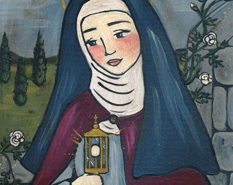 Saint Clare PRINT 8x10 christian saint art