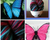 Handspun Hand painted Yarn /Butterfly Wing