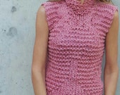 womens pink tank pink vest pink sweater Pink Bamboo tank