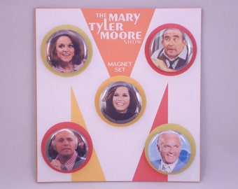 Mary Tyler Moore Show classic TV retro refrigerator magnets