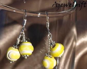 Double Tennis Ball Earrings 15003