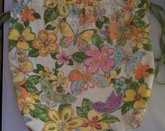 Butterflies - drawstring project-bag
