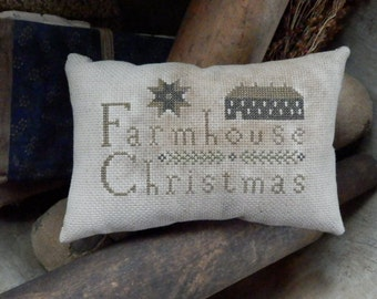 pRiMiTiVe - FarmHousE CHRiStMaS - EaRLy LoOk CrOsS sTiTcH piLLow -WoW - SaLe