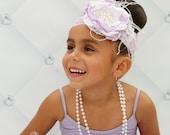 Purple Majesty - Handmade Flowers Headband, Baby Headband, Girls Headband, Couture Headband