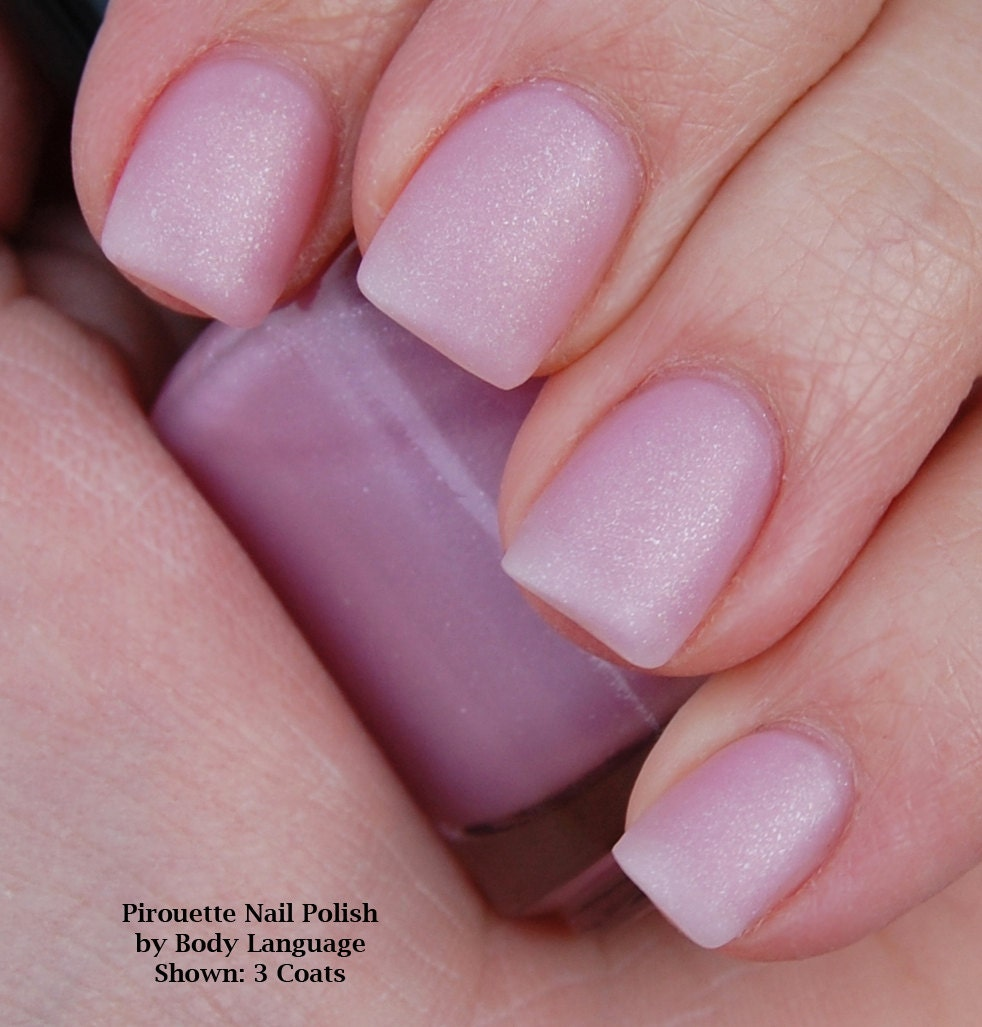 Sheer Light Pink Matte Nail