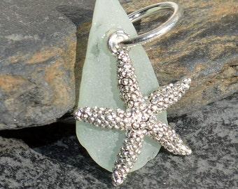 FROSTY STARFISH - Sea Glass Starfish Pendant