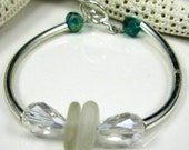 CLEARANCE SALE Stacker Bracelet Stacking Bracelet Bangle Bracelet Sea Glass Bracelet SMALL Sea Glass Jewelry B-194