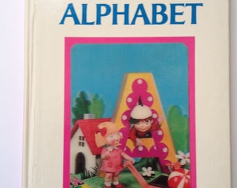 Izawa Puppet Storybook Fun With the Alphabet 3D Cover Board Book 1969 GC