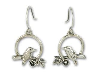 Sunrise Earrings - Sterling Silver Bird Earrings