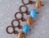 Stitch Markers - Handmade lampwork beads