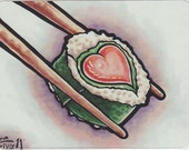 ACEO Sushi Love