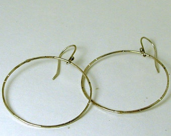 Hoop Earrings..Sterling Silver Earrings..Hand Forged Jewelry.Sterling Silver Jewelry..Large Hoop Earrings..Recycled Hoops