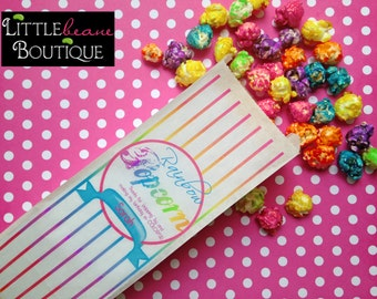 Rainbow Favor Bags, Rainbow Popcorn Bags, Rainbow Party, Tall Favor bags, Birthday party, Sweets, Treats