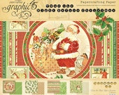 SALE - Graphic 45 Twas The Night Before Christmas 8x8 Paper Pad