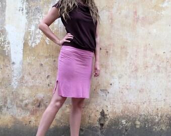 Organic Salwar Pencil Short Skirt (light hemp and organic cotton blend) :