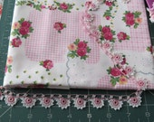 Floral fabric and beaded lace assortment