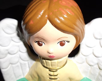 Vintage Christmas Angel Candle Holder