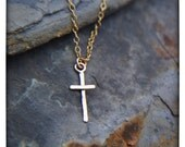 Held for Robbyn -Tiny 14 Karat Gold Cross Necklace