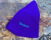 DOPEY Floppy Purple Hat for Adult - EMBROIDERED - Ready to Ship