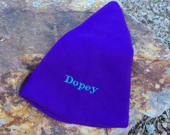 DOPEY Floppy Purple Hat for Children - EMBROIDERED - Ready to Ship